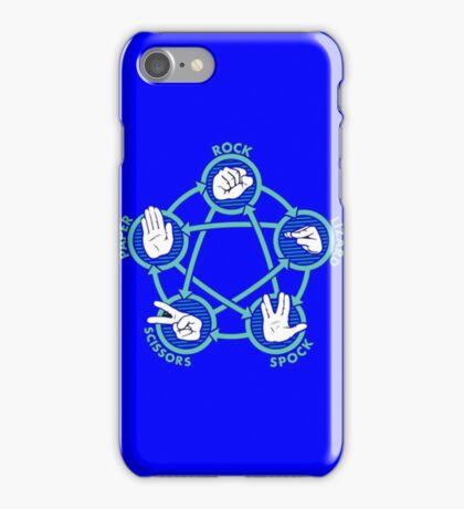Rock Paper Scissors Lizard Spock iPhone Case/Skin