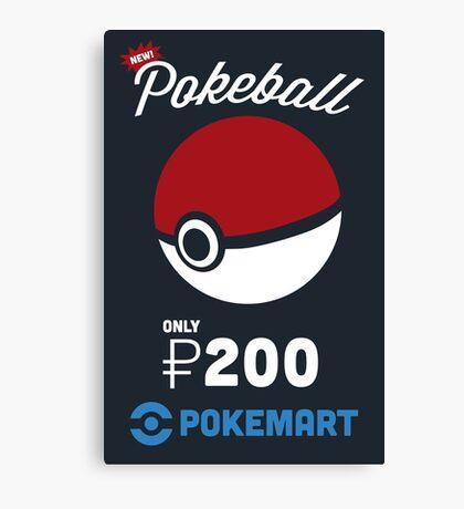 Pokemon Pokeball Pokemart Ad Canvas Print