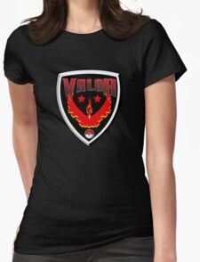 Pokemon Go! Team Valor Shield Womens Fitted T-Shirt