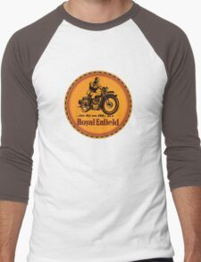 Royal Enfield vintage British Motorcycles Men's Baseball ¾ T-Shirt