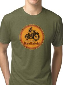 Royal Enfield vintage British Motorcycles Tri-blend T-Shirt