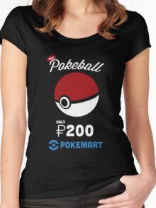Pokemon Pokeball Pokemart Ad Women's Fitted Scoop T-Shirt