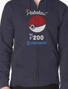Pokemon Pokeball Pokemart Ad Zipped Hoodie
