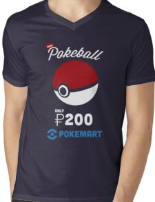 Pokemon Pokeball Pokemart Ad Mens V-Neck T-Shirt