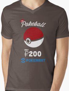 Pokemon Pokeball Pokemart Ad Mens V-Neck T-Shirt