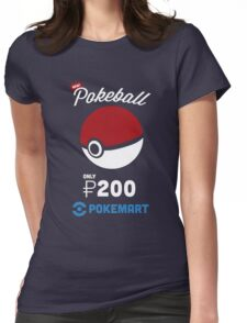 Pokemon Pokeball Pokemart Ad Womens Fitted T-Shirt