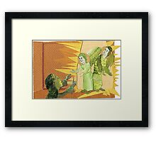 mighty one loves everyone Framed Print