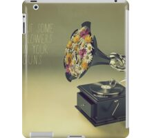 put some flowers in your guns iPad Case/Skin
