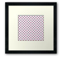 Simple little flower seamless pattern. Kids cute pastel background.  Framed Print