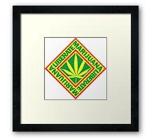 Liberate Marijuana Framed Print