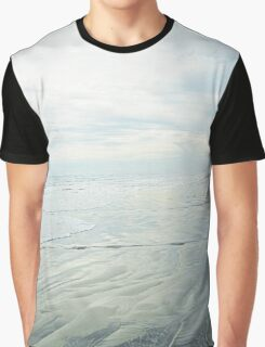 Shimmery Blue - Sand, Sea, Sky Graphic T-Shirt