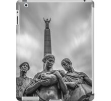 'Industry' 'Charity' and 'Education' statue outside The Lady Lever art gallery, Port Sunlight iPad Case/Skin