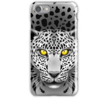 White Leopard with Yellow Eyes iPhone Case/Skin