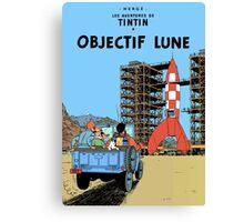 Tintin Destination Moon Cover Canvas Print