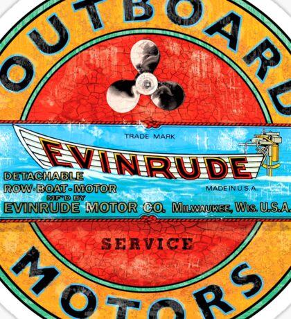 Evinrude vintage outboard motors USA Sticker
