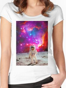 Moon Man Women's Fitted Scoop T-Shirt