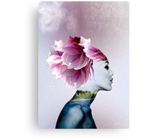 Fantasy Woman Digital Portrait Print Canvas Print