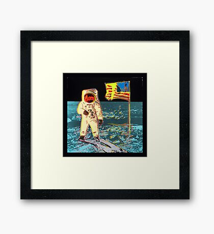 Moon Walk - Andy Warhol Framed Print