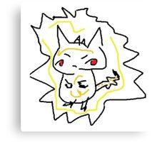 Best Pikachu Eu Canvas Print