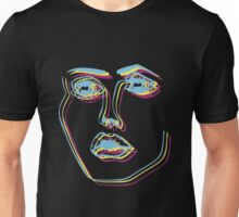 Tri-Colour Disclosure Face Unisex T-Shirt