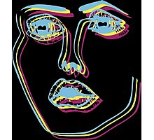 Tri-Colour Disclosure Face Photographic Print