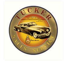 Tucker Sales and Service sign Art Print