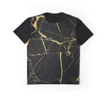 Luxe Black and Gold Marble Graphic T-Shirt