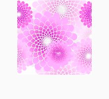 Spiral flowers pattern, geometric magenta pink floral Womens Fitted T-Shirt