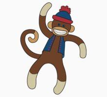 Super Cute Sock Monkey  Baby Tee