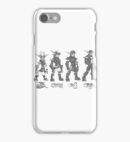 Jak and Daxter Saga - Black Sketch iPhone Case/Skin