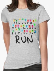 Stranger Things (run) Womens Fitted T-Shirt