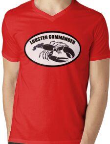 Lobster Commander Mens V-Neck T-Shirt