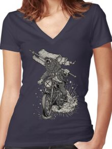 Winya No. 91 Women's Fitted V-Neck T-Shirt