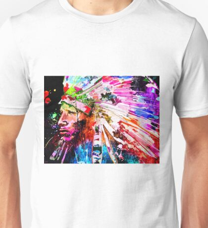Native American Grunge Unisex T-Shirt