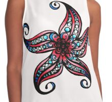 Floral Starfish b Coloured Contrast Tank