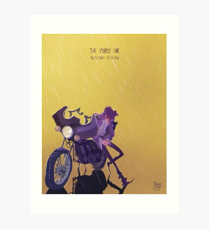 Only Want 2 See U Laughing in the Purple Rain Art Print