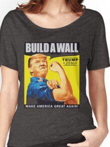 donald trump T-shirt - build a wall  Women's Relaxed Fit T-Shirt