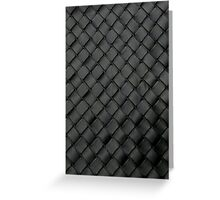 Woven Leather Texture Design Greeting Card