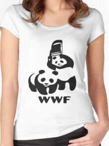 WWE pandas Women's Fitted Scoop T-Shirt