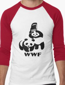 WWE pandas Men's Baseball ¾ T-Shirt
