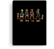 Jak and Daxter Saga - Full Colour Canvas Print
