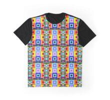 8bit Happy Snappy Color Blocks Graphic T-Shirt