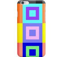 8bit Happy Snappy Color Blocks iPhone Case/Skin