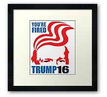 donald trump T-shirt - you're fired  Framed Print
