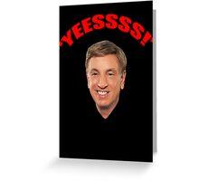 "Marv Albert ""Yes!"" Greeting Card"