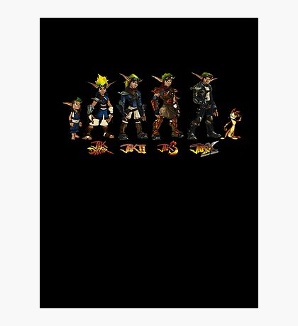Jak and Daxter Saga - Full Colour Sketched Photographic Print