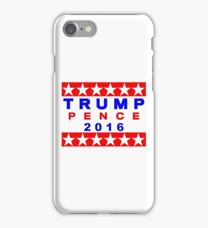 Trump Pence 2016 Red White And Blue USA Elections iPhone Case/Skin
