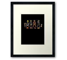 Jak and Daxter Saga - Simplified Colours Framed Print