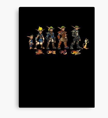 Jak and Daxter Saga - Simplified Colours Canvas Print