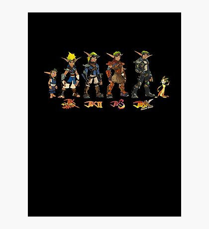 Jak and Daxter Saga - Simplified Colours Photographic Print